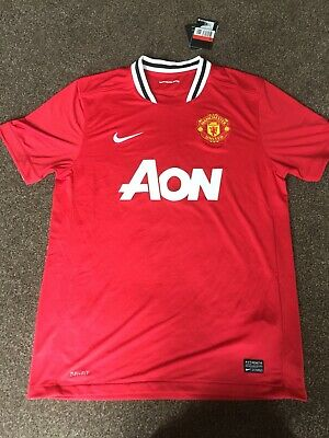 MANCHESTER UNITED FC Home football shirt 2011-2012 Adult Large BNWT Nike AON