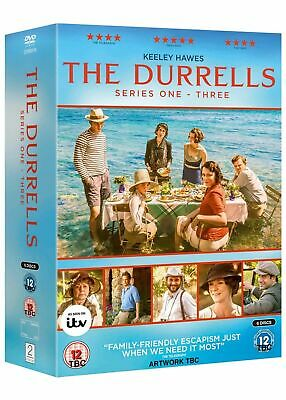The Durrells: Series 1 2 & 3 ((DVD 6 DISC BOX SET, 2018) *NEW/SEALED* FREE P&P
