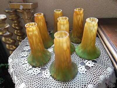 Lot de 7 Tulipes en pate de verre