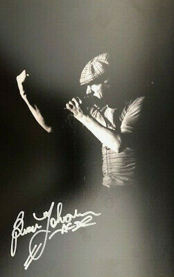 ACDC (Brian Johnson) Original SIGNED PHOTO 12X8 WITH COA