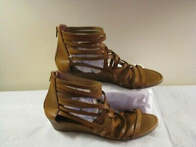 404e752e6a4f American Eagle Braided Wedge Sandals ANKLE STRAP ZIP BACK Women s Shoe Size  9