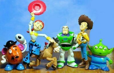 6pcs Toy Story 3 Buzz Lightyear Woody Alien Jessie Figures Doll Toy Set