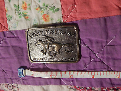 Vintage Belt Buckle (LOT of 2) PONY EXPRESS + Breaker Breaker CB CONVOY (F.SHIP)