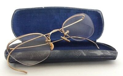 Vtg AO Numont Fulvue 1/10 12K GF Gold Fill Eyeglasses Labled Case Great Falls MT