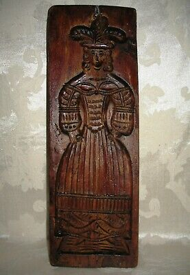 """1800's Primitive Wood Plank Dutch Butter/Cookie Mold, His & Her """"Speculaas"""""""