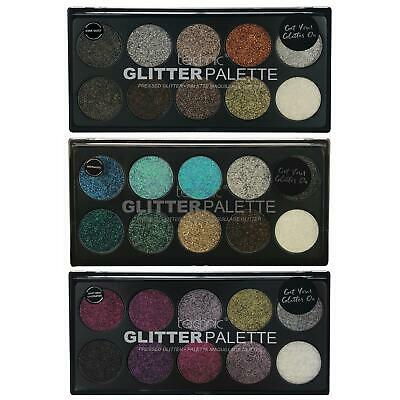 Technic Pressed Glitter Eyeshadow Palette Metallic High Glitter Eye Shadow