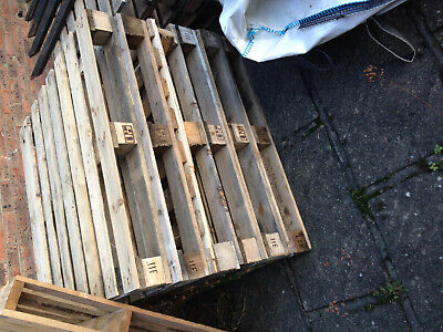 One wooden pallet for just a Pound.  Ten available.