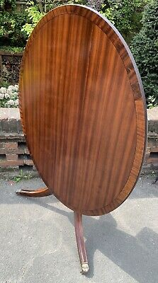 Large Regency Style Reproduction Tilt Top Oval Table