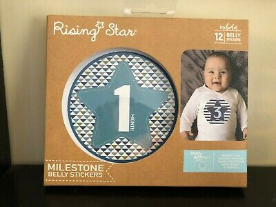 New Rising Star Milestone Belly Stickers Blue
