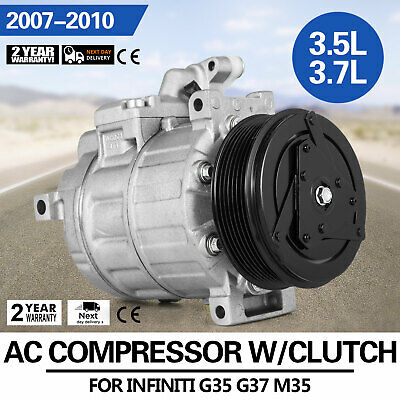 HQ AC Compressor /& A//C Clutch Fits Freightliner Trucks 4306 ABPN83304583 Look