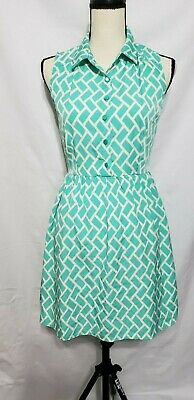 Pink Owl Sundress Dress S Small Jumper Green white Cocktail Party Wedding Retro