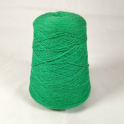 Machine Knitting Wool Yarn Cone - Electric Green P650/3 2/8 | 2 ply | 514g