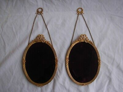 PAIR OF ANTIQUE FRENCH GILT BRASS  PHOTO FRAME,LOUIS XVI STYLE,LATE 19th.