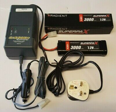Tamiya Combo Battery and Fast Charger Pack 7.2 Volt 3000 Mah