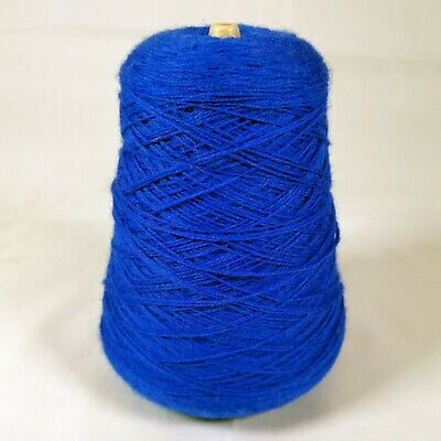 Forsell Machine Knitting Yarn Cone - Royal Blue 116 Lot 19 | 4 ply | 414g