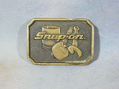 Vintage Snap-On Tools Solid Brass Belt Buckle SPP-513 MADE IN USA