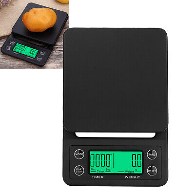 3/5kg Black Digital LCD Electronic Kitchen Cooking Food Weighing Scales Timer