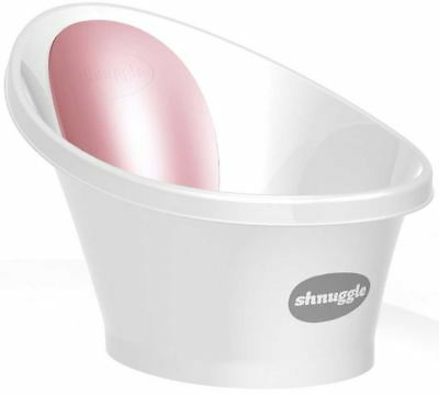 Shnuggle WHITE PINK BATH Newborn/Baby Tub Safe Secure Support Innovative BNIB