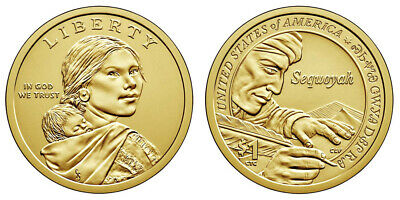 "2017 D Sacagawea Native American Dollar ""Sequoyah"" in a Brand New Capsule"