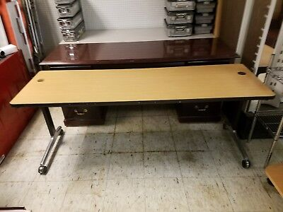Vtg. 6f Herman Miller George Nelson Action Office Propst Desk Mid Century Modern