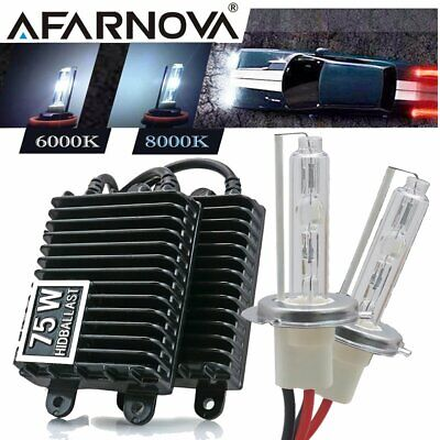 55W H7 Xenon HID Conversion Kit Replacement Headlight Bulbs Ballasts 6000K 8000K