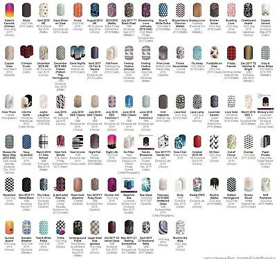 Jamberry HALF SHEETS! Various from 2014-2018! Free US shipping!