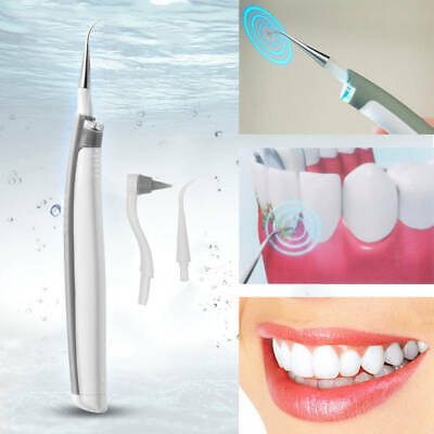 Sonic Pick Tooth Stain Remover LED Light Eraser Whiten Tooth Cleaner Plaque
