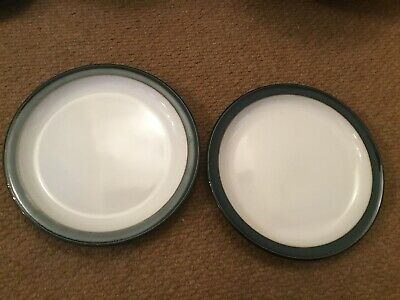 Denby Greenwich Tea Plates X 2 Approx 6.75 Inches