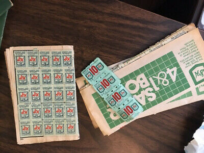 Vintage S&H Green Stamps Quick Saver Books Partially Filled Vintage
