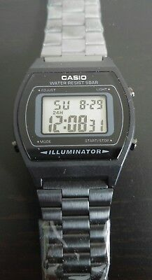Casio B640WB-1ADF Classic Digital Watch Stainless Steel Band Black 3294