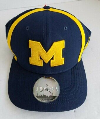 competitive price b5a75 e8235 NIKE Michigan Wolverines AeroBill Sideline Swoosh Performance Flex Hat Navy