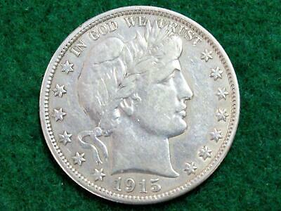 1915D Barber Half Dollar - High Vf Or Better