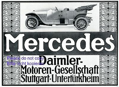 Mercedes Daimler German 1911 ad advertising Benz Stuttgart Unterturkheim +