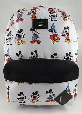 VANS DISNEY OLD Skool Backpack Mickey Through The Ages White