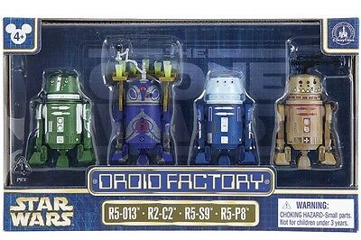 Star Wars Disney Droid Factory Clone Wars 4-Pack R5-013 R2-C2 R5-S9 R5-P8
