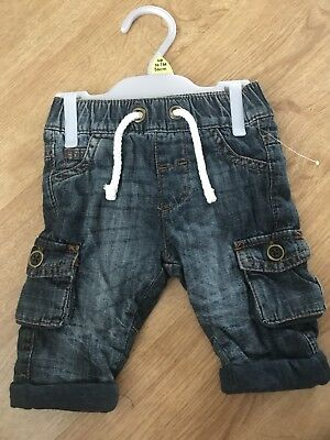 6 Pairs Of Baby Boys Jeans/joggers/chinos Size Up To 1 Month
