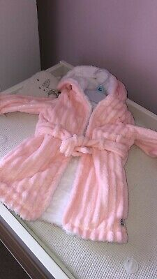 Babies Pink Dressing Gown (6-9 months) (F&F)