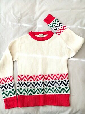 70s Kids  Acrylic Knit Jumper 'Young classics' Size S (approx Age 8)