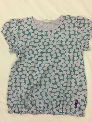 Naartjie Lavender Color Polk Dot Short Sleeve top Size 10 Years