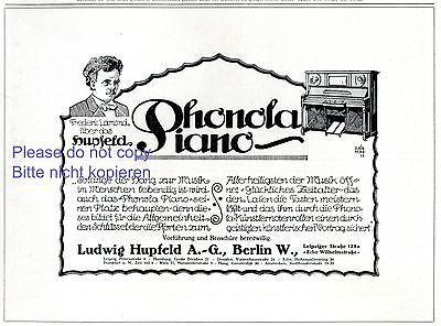 Collectibles Advertising-print Shop For Cheap Self Playing Piano Phonola German Ad 1907 Hupfeld Leipzig Richard Wagner