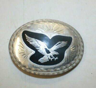 Vintage Johnson & Held Eagle Handcrafted Belt Buckle 2 7/8X3 7/8 Free Shipping