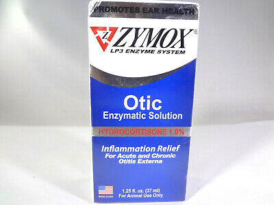 Zymox LP3 Exzyme System Otic Enzymatic Solution for Animal Use Only 1.25oz[VS-Z]