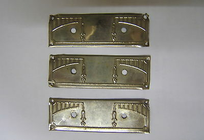 3 Intake Chrome Metal Carved for Drawer of Chest of Drawers