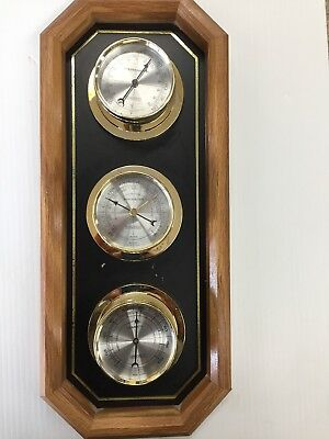 Vintage Springfield Barometer, Thermometer And Humidity Gage Weather Station