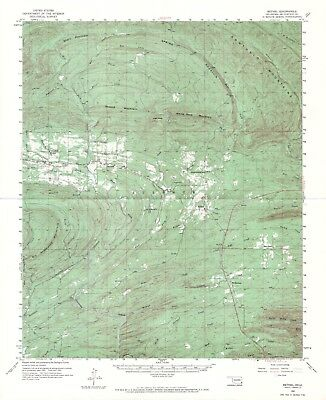 (2) 1959, '60 OK vintage 1:62,500 USGS Topo Maps, Cedar Mountains heavily wooded