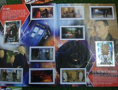 Dr Who Battles in Time Magazines plus extras including completed sticker album