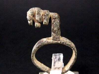 Choice Roman Bronze Key Ring+++Top Condition+++As Found+++