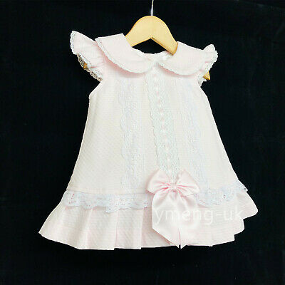 *SALE* Beautiful Wee Me Baby Girl Spanish Pink Lace Dress Big Bow Romany