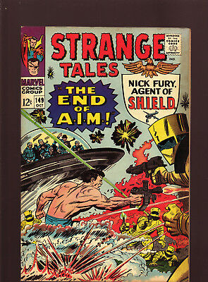 "Strange Tales #149 Oct 1966 Fine/Fn+ ""The End Of Aim!"""