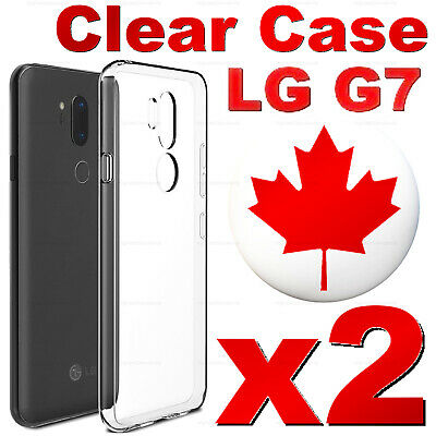 For LG G7 One - Superior Clear Soft Transparent TPU Case - Best Quality (2 PACK)